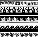 Antique seamless borders - hand drawing Stock Images