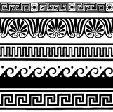 Antique seamless borders - hand drawing Stock Photography