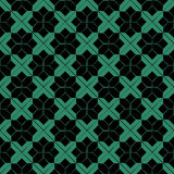 Antique seamless green background check star cross geometry star Royalty Free Stock Photos