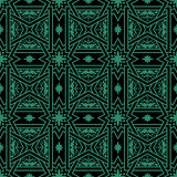 Antique seamless green background cross bar square star flower. Can be used for both print and web page Royalty Free Stock Images