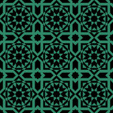 Antique seamless green background _cross square Islam star Royalty Free Stock Photos