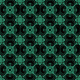 Antique seamless green background exotic curve spiral cross flow Royalty Free Stock Photos