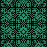 Antique seamless green background geometry heart square star Royalty Free Stock Photography