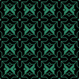 Antique seamless green background Islam cross star geometry Royalty Free Stock Photo