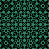 Antique seamless green background Islam star cross geometry Royalty Free Stock Photography