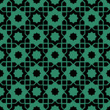 Antique seamless green background Islam star geometry. Can be used for both print and web page Royalty Free Stock Images