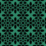 Antique seamless green background Islam star geometry frame. Can be used for both print and web page Stock Photo