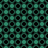 Antique seamless green background octagon star cross triangle Stock Photography
