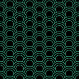 Antique seamless green background oriental fish scale round curv. E line can be used for both print and web page Stock Photo