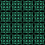 Antique seamless green background oval cross geometry Royalty Free Stock Image