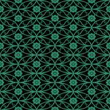 Antique seamless green background oval round cross flower Stock Photos