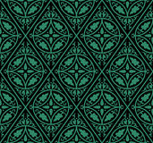 Antique seamless green background round rhomb cross flower Royalty Free Stock Photography