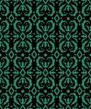 Antique seamless green background spiral round rhomb kaleidoscop Royalty Free Stock Photography