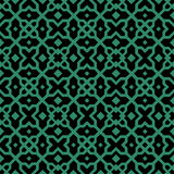 Antique seamless green background star cross geometry kaleidosco Stock Images