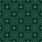 Antique seamless green background star flower geometry Royalty Free Stock Photo