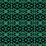 Antique seamless green background star triangle geometry Royalty Free Stock Image