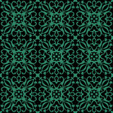 Antique seamless green background vine spiral flower kaleidoscop Royalty Free Stock Photography