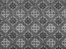 Antique Seamless Portuguese Tiles Pattern. Antique abstract ceramic tiles pattern. Portuguese azulejos Royalty Free Stock Images