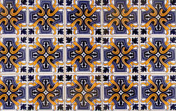 Antique Seamless Portuguese Tiles Stock Image