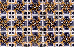 Antique Seamless Portuguese Tiles. Antique vintage portuguese tiles - azulejos stock image