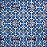 Antique Seamless Portuguese Tiles Royalty Free Stock Images