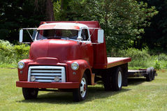 Antique semi truck royalty free stock image