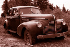 Antique sepia car royalty free stock photography