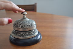 Antique service bell Stock Photo