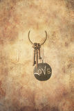 Antique set of keys and a slate ball Royalty Free Stock Photos