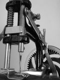 Antique sewing machine 1. Details of an antique sewing machine Stock Image
