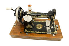 Antique sewing machine royalty free stock photos