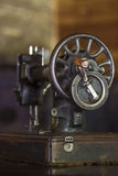Antique sewing machine. Royalty Free Stock Image