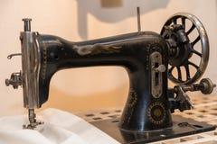 Antique sewing machine - closeup royalty free stock photos
