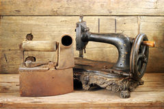 Antique sewing machine stock photography