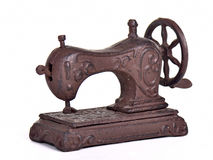 Antique sewing machine isolated Stock Image