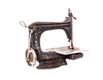 Antique sewing machine Stock Photo