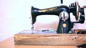 Antique Sewing Machine stock footage