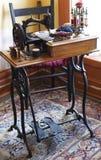Antique Sewing machine stock image