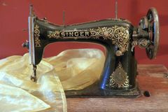 Antique sewing machine Stock Images