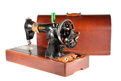 Antique sewing machine. For the true masters Royalty Free Stock Photography