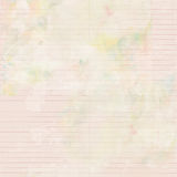 Antique shabby watercolor lined stationary paper background Stock Photography