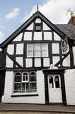 The antique shop. Half timbered building of the antique shop in Ellesmere royalty free stock images