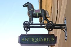 Antique shop. Exterior detail with plenty of copy space Stock Photography