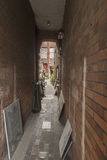 Antique shop alley Arundel West Sussex. Arundel is a market town and civil parish in a steep vale of the South Downs, West Sussex, England. It lies 49 miles SSW royalty free stock photos