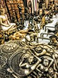 antique shop hdr mode old and vintage things for sale Royalty Free Stock Photography