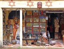 Antique shop. Jewish Quarter. Kochi. Antique shop, jewish quarter, kochi city, south india, souvenir shop, Antiques for sale, indian bazaar Royalty Free Stock Image