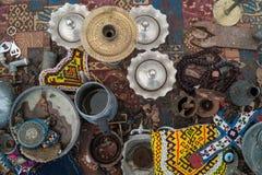Antique shop. Still life on a counter in an antique shop in Cappadocia Stock Photography
