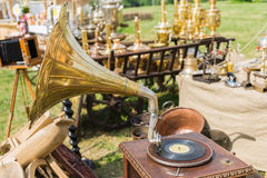 Antique shop at the 4th International Festival of Times and Epochs royalty free stock image