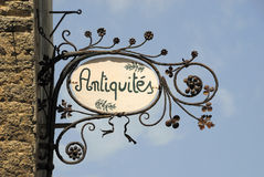 Antique sign Royalty Free Stock Photo