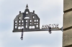 Antique sign in Copenhagen Stock Images